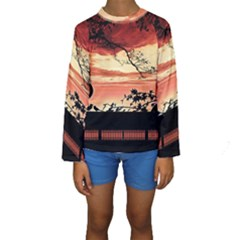 Autumn Song Autumn Spreading Its Wings All Around Kids  Long Sleeve Swimwear