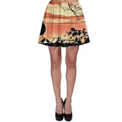 Autumn Song Autumn Spreading Its Wings All Around Skater Skirt