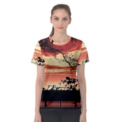 Autumn Song Autumn Spreading Its Wings All Around Women s Sport Mesh Tee