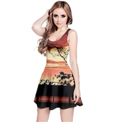 Autumn Song Autumn Spreading Its Wings All Around Reversible Sleeveless Dress