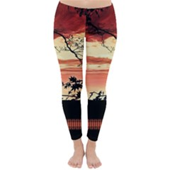 Autumn Song Autumn Spreading Its Wings All Around Classic Winter Leggings