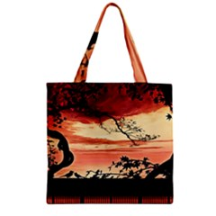 Autumn Song Autumn Spreading Its Wings All Around Zipper Grocery Tote Bag