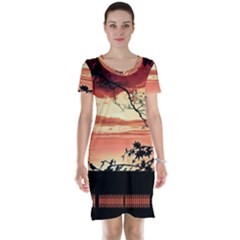 Autumn Song Autumn Spreading Its Wings All Around Short Sleeve Nightdress