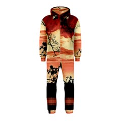 Autumn Song Autumn Spreading Its Wings All Around Hooded Jumpsuit (Kids)