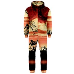 Autumn Song Autumn Spreading Its Wings All Around Hooded Jumpsuit (Men)