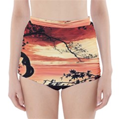 Autumn Song Autumn Spreading Its Wings All Around High Waisted Bikini Bottoms