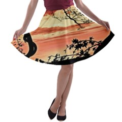 Autumn Song Autumn Spreading Its Wings All Around A-line Skater Skirt