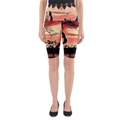 Autumn Song Autumn Spreading Its Wings All Around Yoga Cropped Leggings