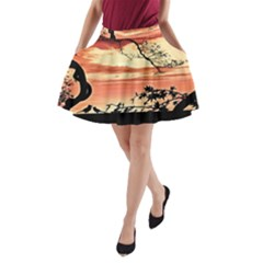 Autumn Song Autumn Spreading Its Wings All Around A-Line Pocket Skirt