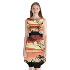 Autumn Song Autumn Spreading Its Wings All Around Sleeveless Chiffon Dress