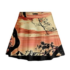 Autumn Song Autumn Spreading Its Wings All Around Mini Flare Skirt