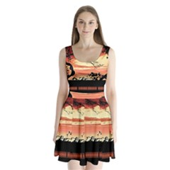 Autumn Song Autumn Spreading Its Wings All Around Split Back Mini Dress