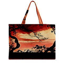 Autumn Song Autumn Spreading Its Wings All Around Medium Zipper Tote Bag