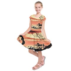 Autumn Song Autumn Spreading Its Wings All Around Kids  Short Sleeve Dress
