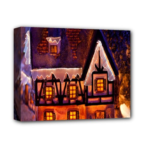 House In Winter Decoration Deluxe Canvas 14  x 11