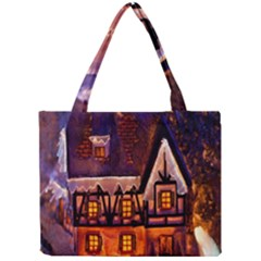 House In Winter Decoration Mini Tote Bag