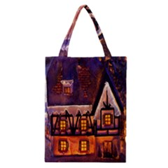 House In Winter Decoration Classic Tote Bag