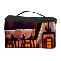 House In Winter Decoration Cosmetic Storage Case