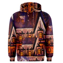 House In Winter Decoration Men s Pullover Hoodie