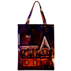 House In Winter Decoration Zipper Classic Tote Bag