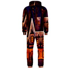 House In Winter Decoration Hooded Jumpsuit (Men)