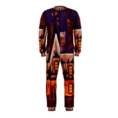 House In Winter Decoration Onepiece Jumpsuit (kids)