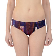 House In Winter Decoration Hipster Bikini Bottoms