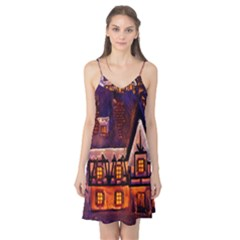 House In Winter Decoration Camis Nightgown