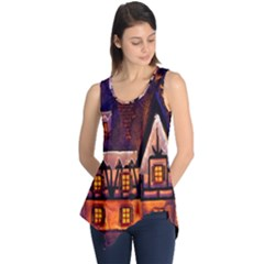 House In Winter Decoration Sleeveless Tunic