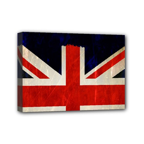 Flag Of Britain Grunge Union Jack Flag Background Mini Canvas 7  x 5