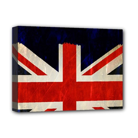 Flag Of Britain Grunge Union Jack Flag Background Deluxe Canvas 16  x 12
