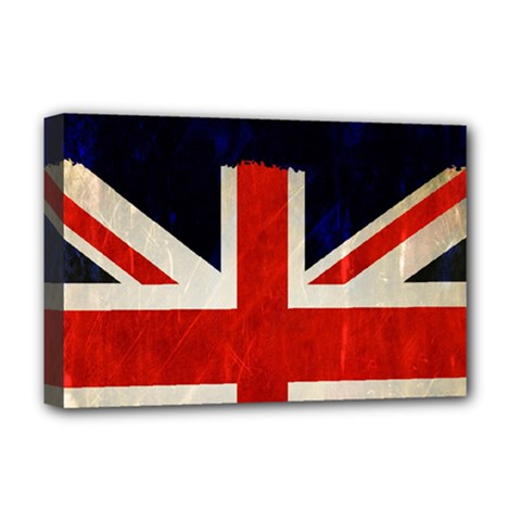 Flag Of Britain Grunge Union Jack Flag Background Deluxe Canvas 18  x 12