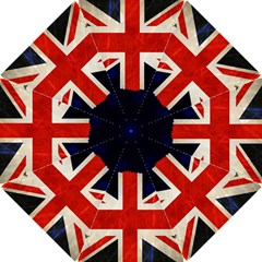 Flag Of Britain Grunge Union Jack Flag Background Hook Handle Umbrellas (small)