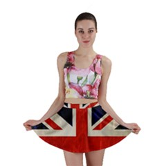 Flag Of Britain Grunge Union Jack Flag Background Mini Skirt