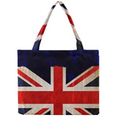 Flag Of Britain Grunge Union Jack Flag Background Mini Tote Bag