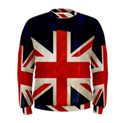 Flag Of Britain Grunge Union Jack Flag Background Men s Sweatshirt