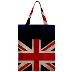 Flag Of Britain Grunge Union Jack Flag Background Zipper Classic Tote Bag