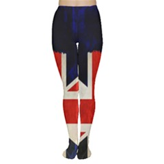Flag Of Britain Grunge Union Jack Flag Background Women s Tights