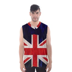 Flag Of Britain Grunge Union Jack Flag Background Men s Basketball Tank Top