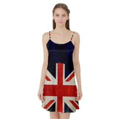 Flag Of Britain Grunge Union Jack Flag Background Satin Night Slip