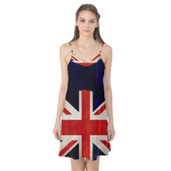 Flag Of Britain Grunge Union Jack Flag Background Camis Nightgown
