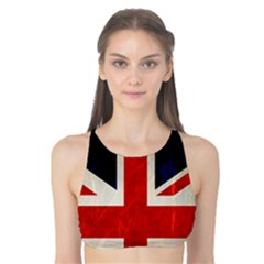 Flag Of Britain Grunge Union Jack Flag Background Tank Bikini Top