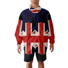 Flag Of Britain Grunge Union Jack Flag Background Wind Breaker (kids)