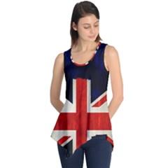 Flag Of Britain Grunge Union Jack Flag Background Sleeveless Tunic