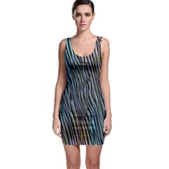 Abstract Background Wallpaper Sleeveless Bodycon Dress
