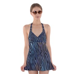 Abstract Background Wallpaper Halter Swimsuit Dress