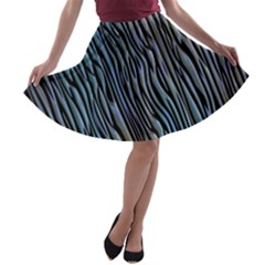 Abstract Background Wallpaper A-line Skater Skirt