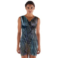 Abstract Background Wallpaper Wrap Front Bodycon Dress