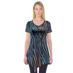 Abstract Background Wallpaper Short Sleeve Tunic
