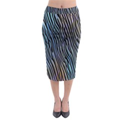 Abstract Background Wallpaper Midi Pencil Skirt